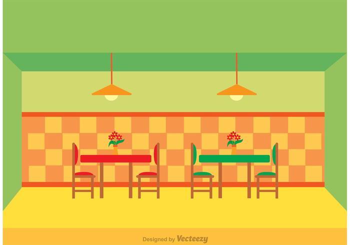 Interior del restaurante vector