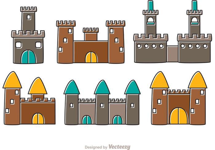 Vettori di Cartoon Castle Fort