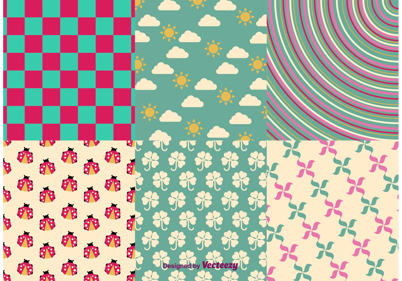 Spring and Summer Vector Patterns - Download Free Vector Art, Stock ...