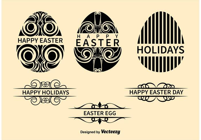 Ornamental Easter Egg Vectors