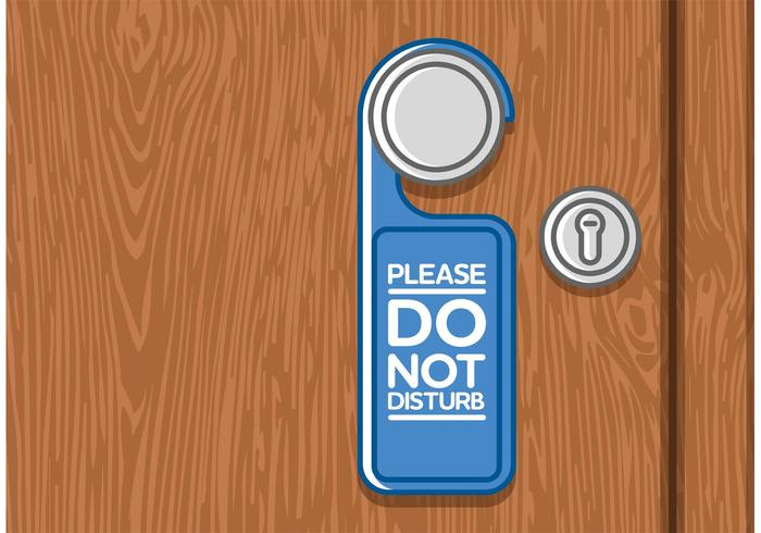 Do Not Disturb Door Vector