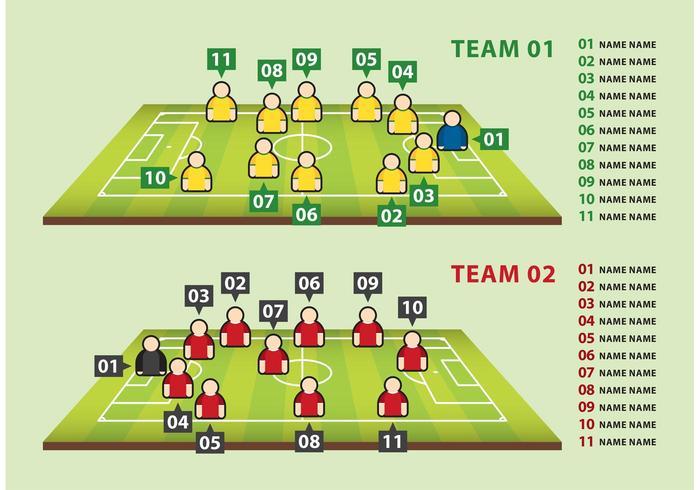 Equipos de fútbol Vectores gráficos