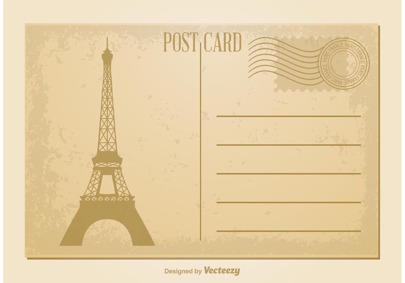 vintage postcard vector download free vector art stock graphics images. Black Bedroom Furniture Sets. Home Design Ideas