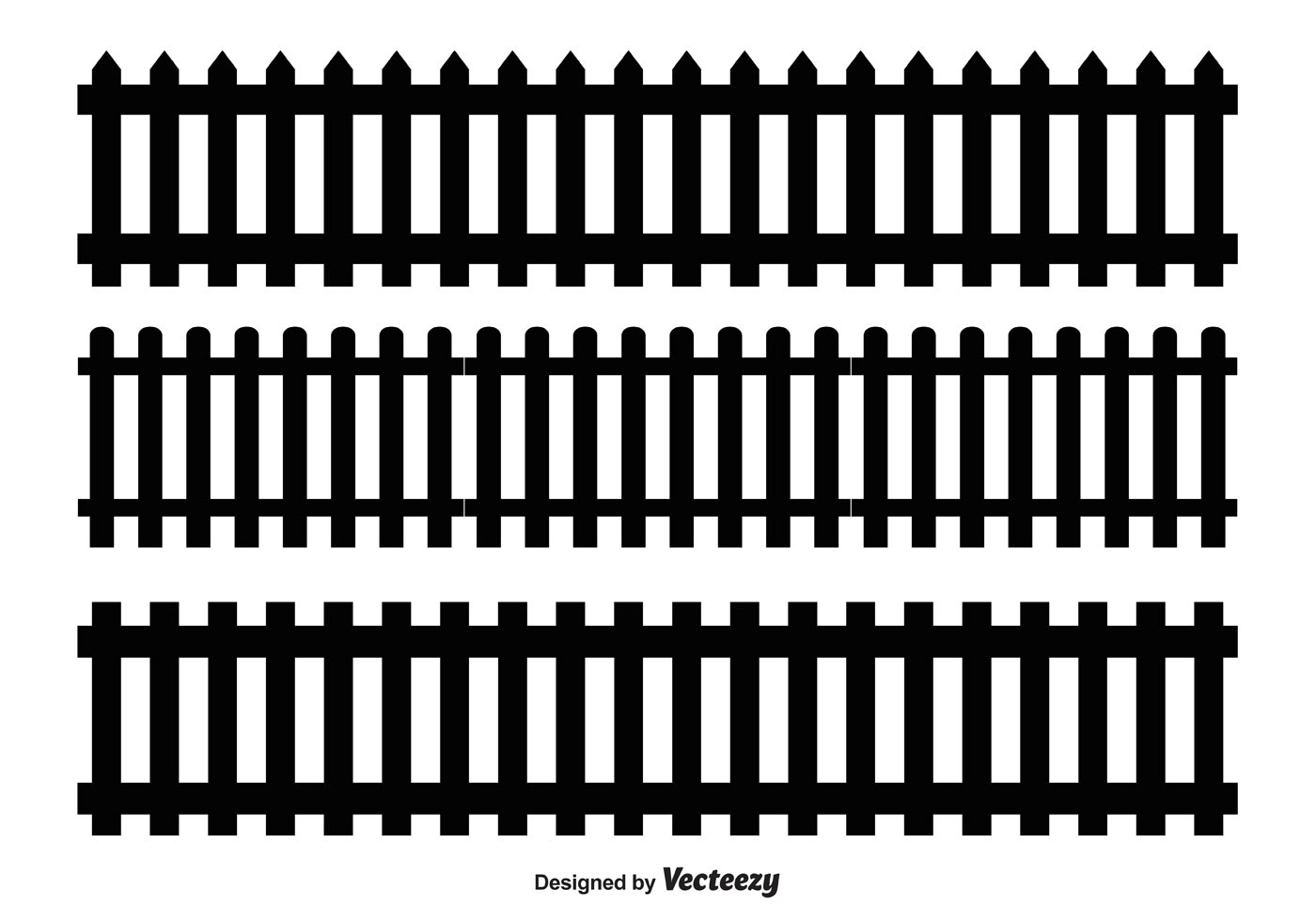 Picket Fence Vector Shapes - Download Free Vectors ...