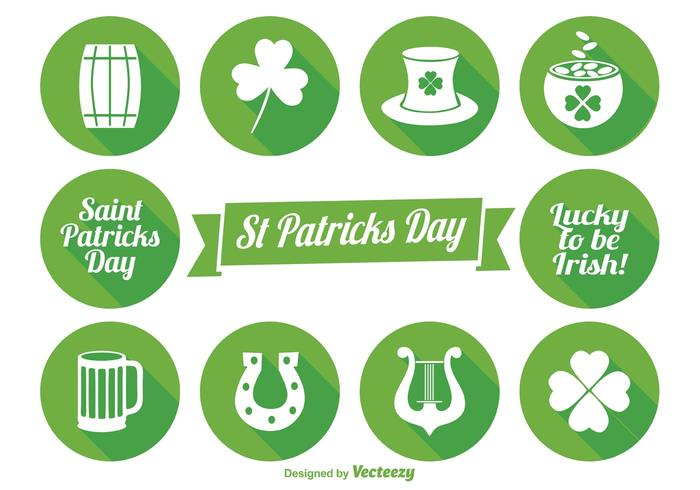 St Patrick's Day Icon Set