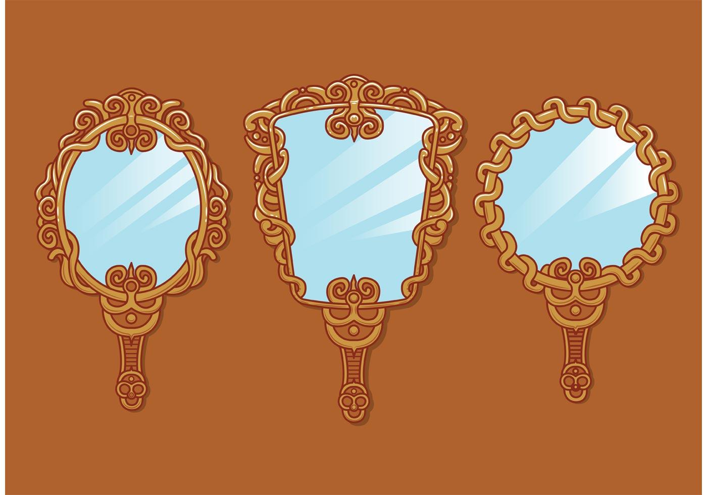 Vintage Hand Mirror Vectors Download Free Vector Art