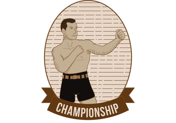 Old Time Boxing Vector
