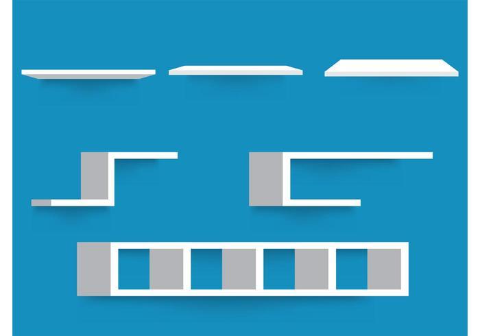Free Vector 3D Shelves
