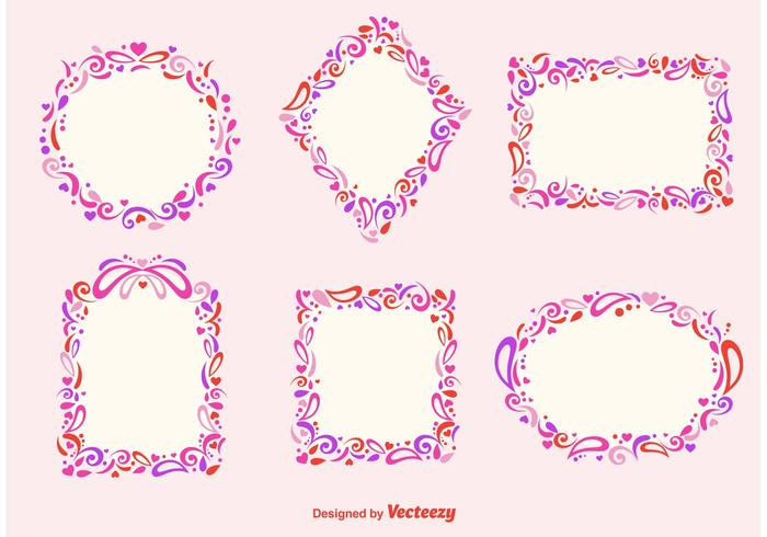 Romantic Frames vector