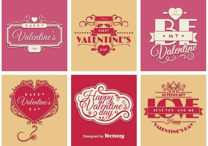 Valentine Sign Vectors