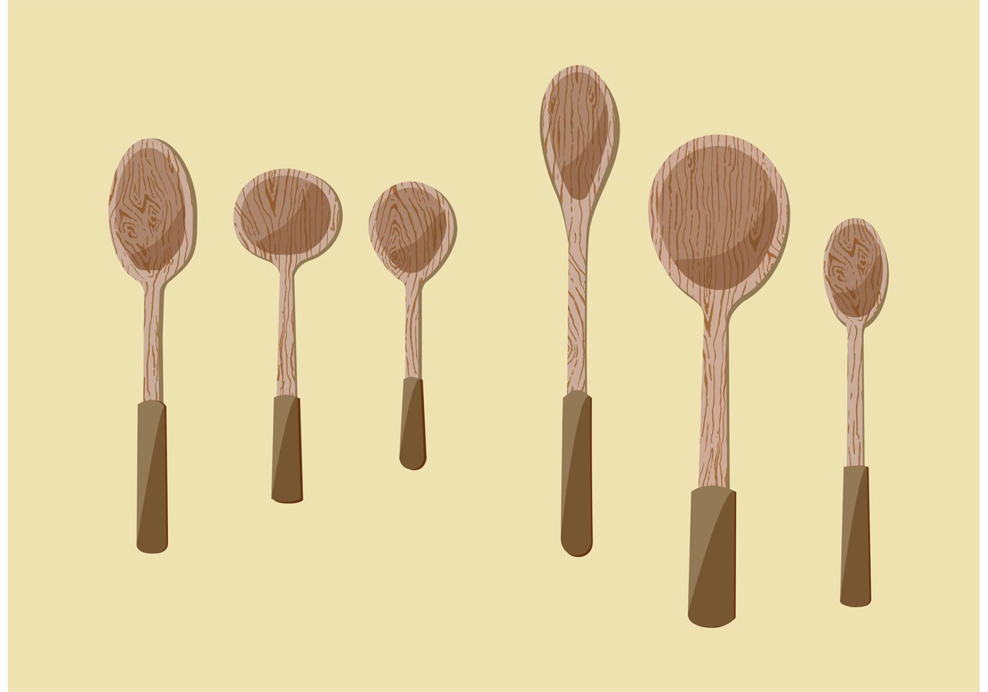 Wooden Spoon Vector Illustrations