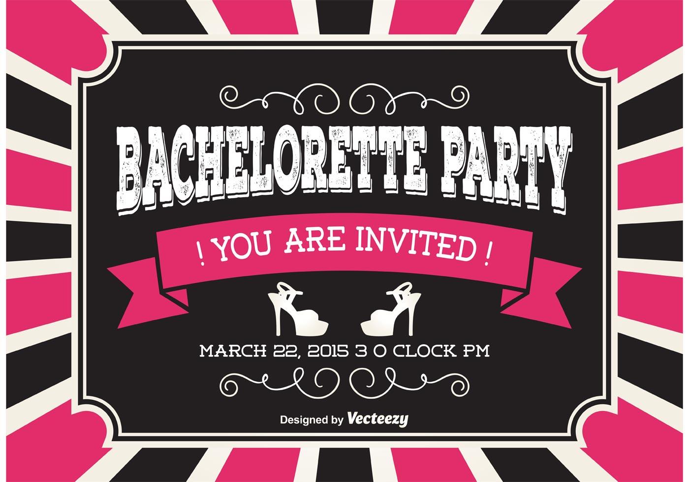 Bachelorette Party Invitaion - Download Free Vector Art, Stock ...