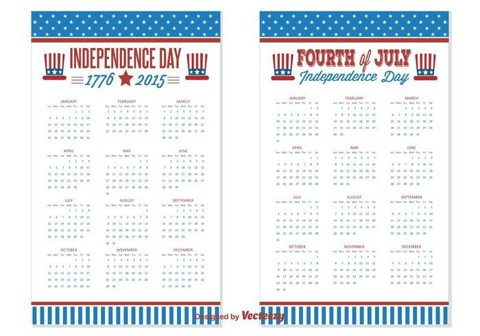 2015/2016 Independence Day Calendars