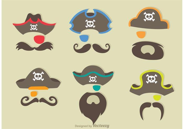 Traje de pirata Vector