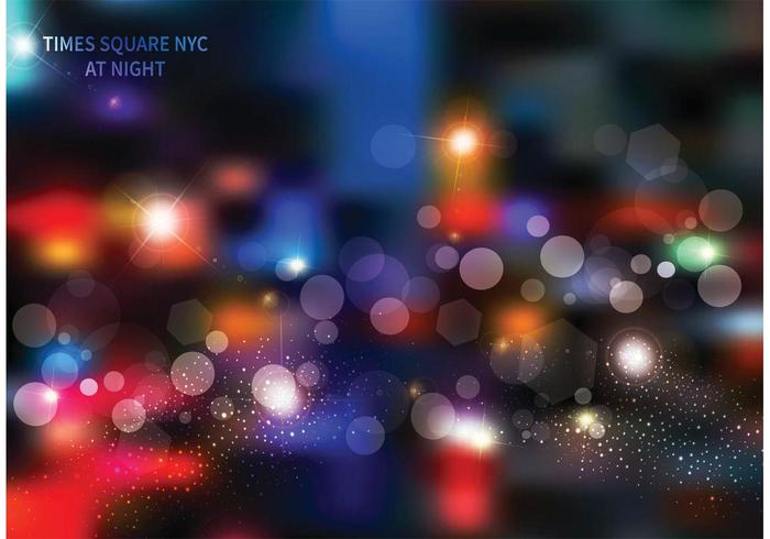 Free Times Square At Night Vector Background