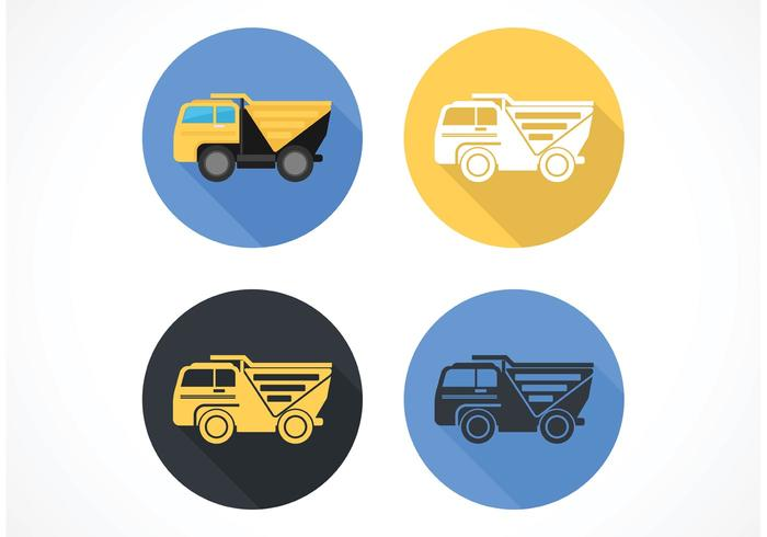 Free Flat Dump Truck Vector Icon