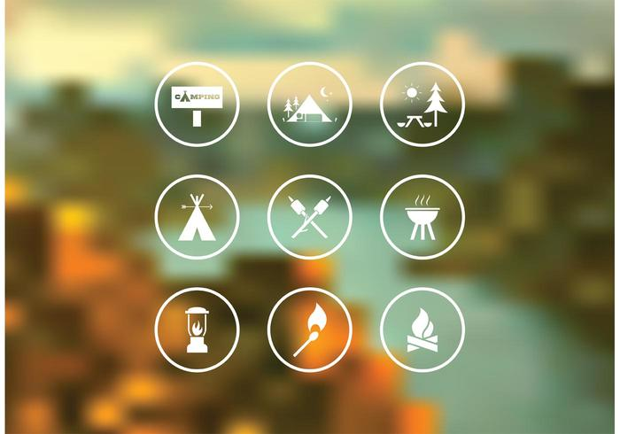 Free Camping Vector Icon Set