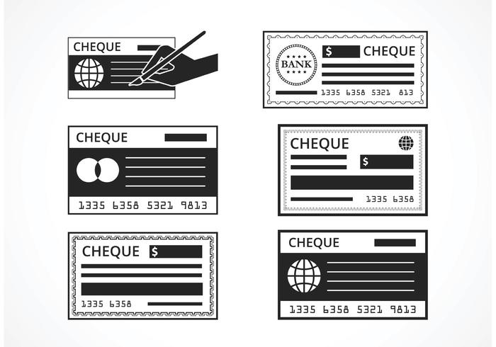 Free Black Blank Check Set do vetor