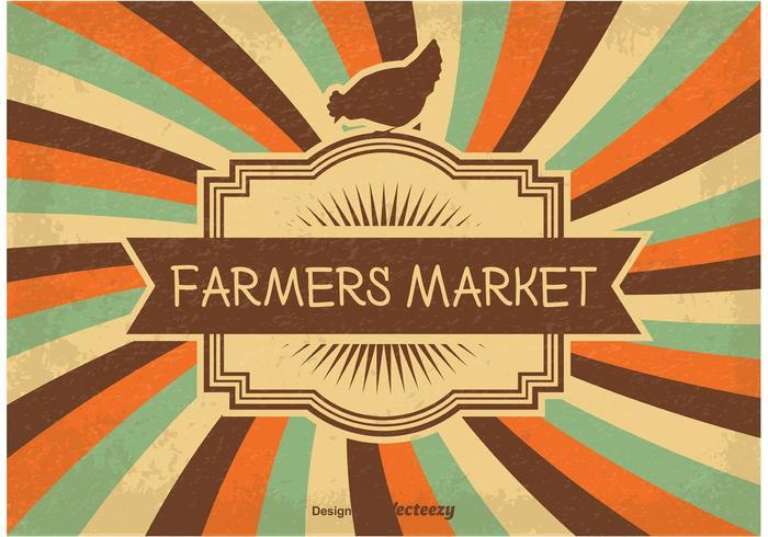 Vintage boerenmarkt illustratie