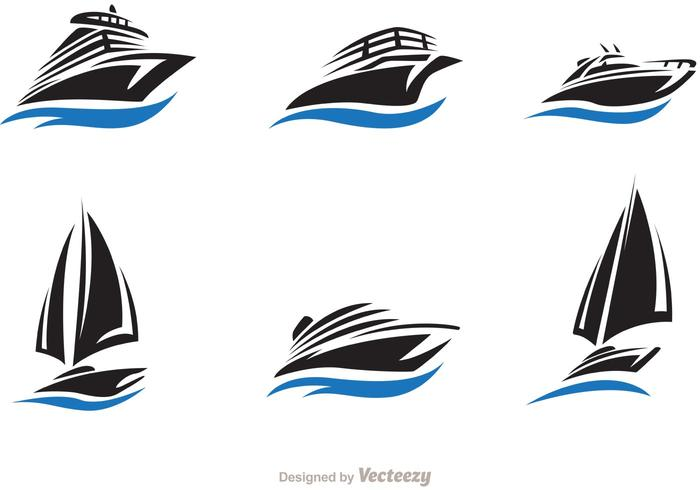 Fast Ship And Boat Vector Set