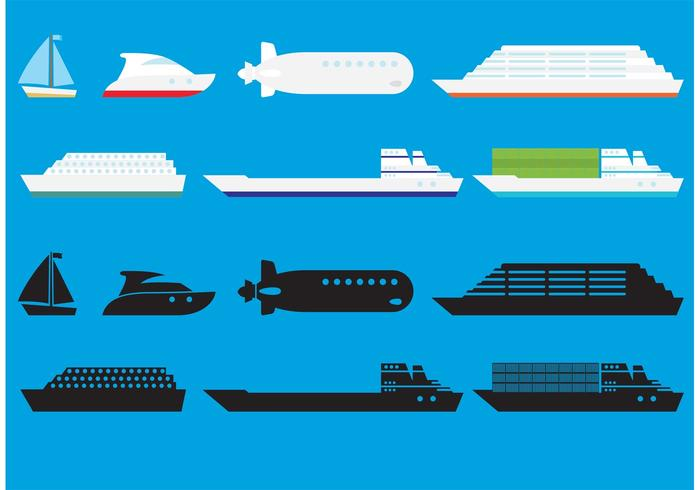 Ships Vector Icons