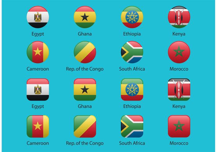 African Vector Flags