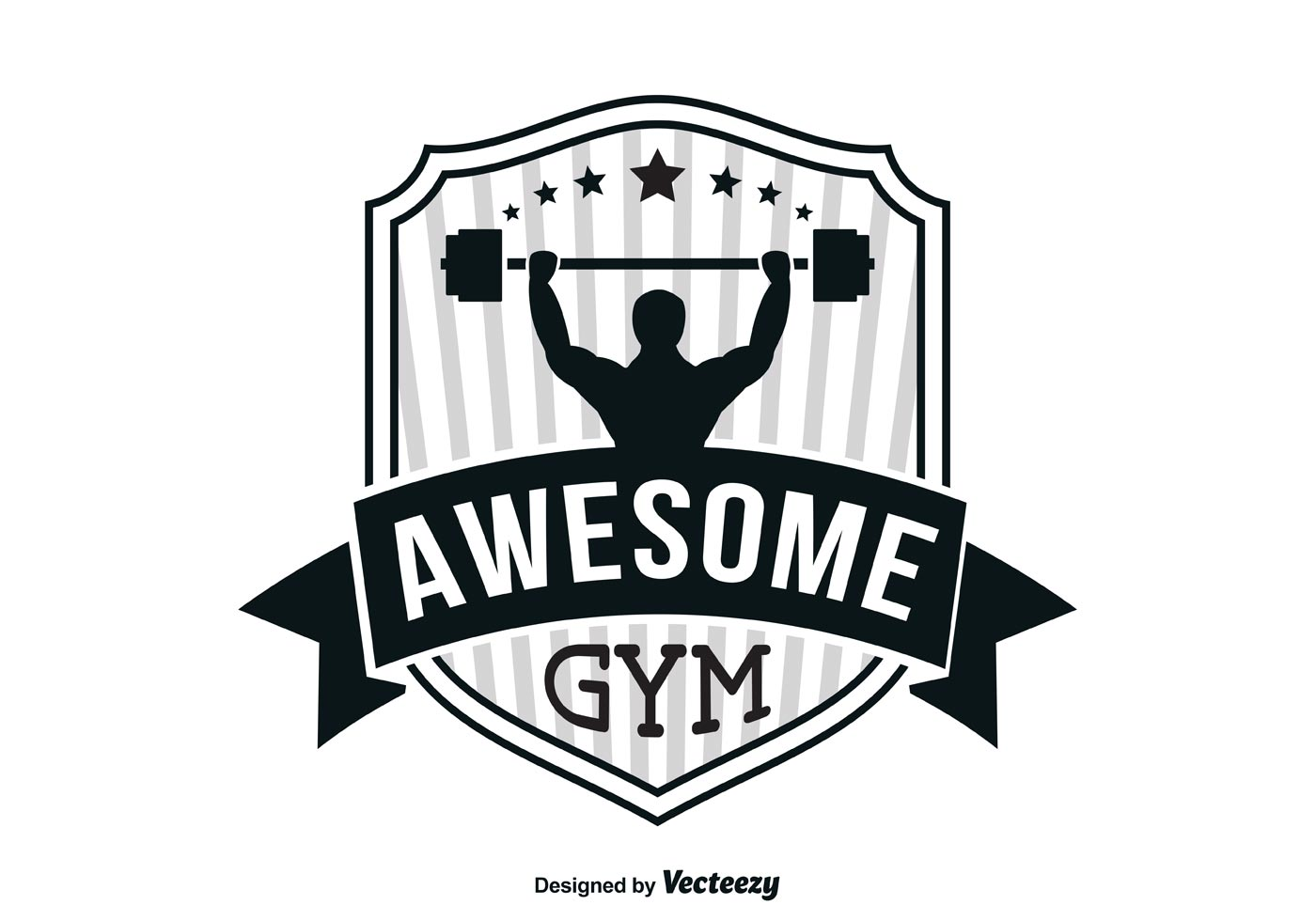 gym logo template download free vector art stock graphics images. Black Bedroom Furniture Sets. Home Design Ideas