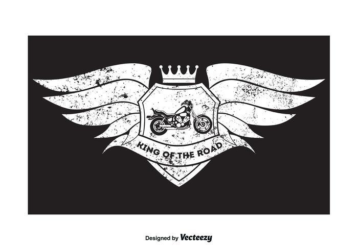 Grunge Style Motorcycle T Shirt Design