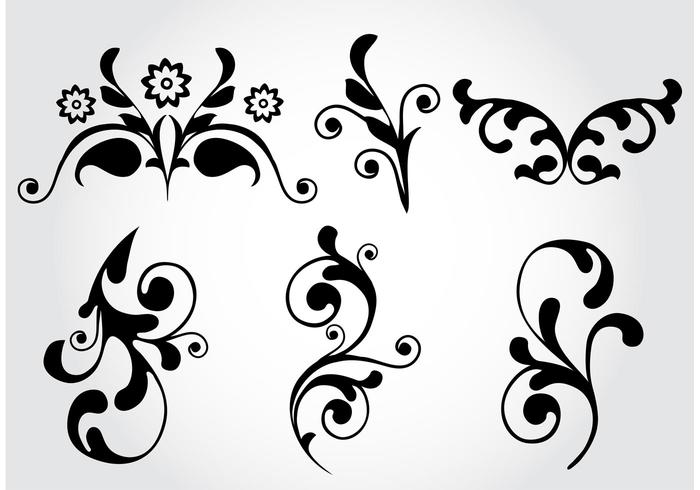 Floral Flourish Vector Elements