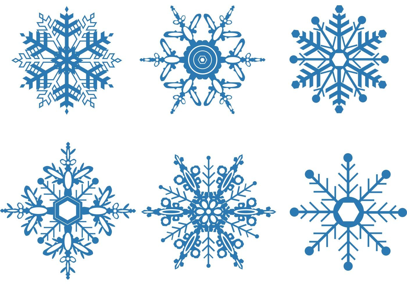 Snowflake Vector Set - Download Free Vector Art, Stock Graphics ...