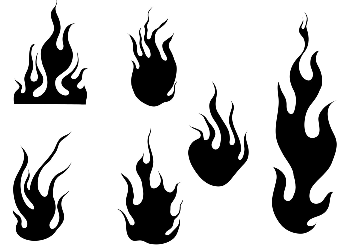Fire And Flames Vector Set - Download Free Vector Art ...