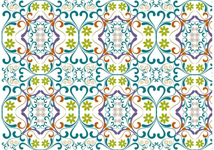Vector Floral Pattern Vackground