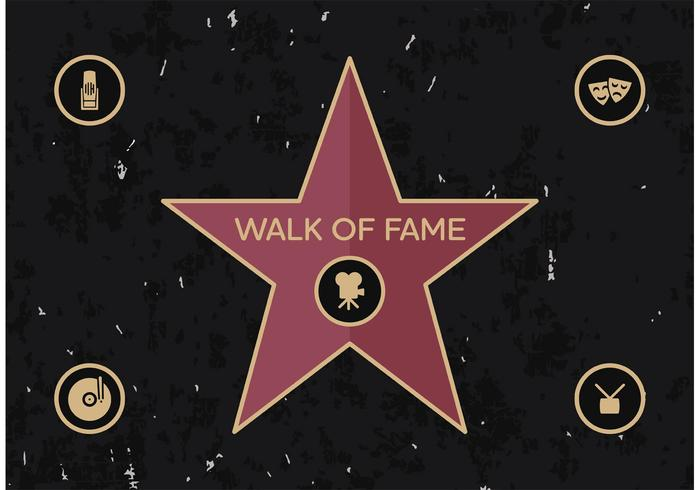 Walk Of Fame Vector Free
