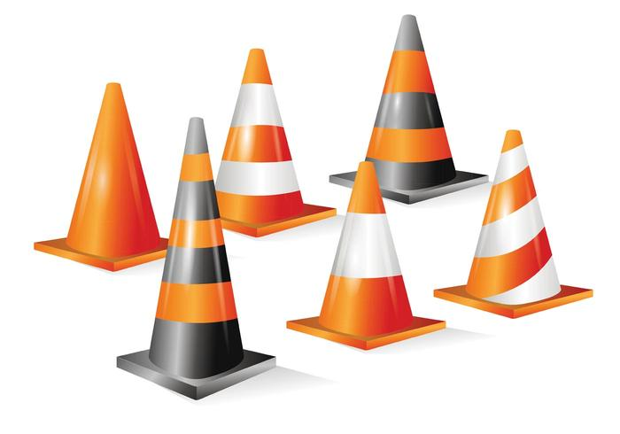 Oranje Cone Vectoren