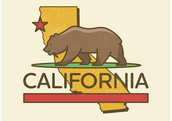 California Bear Vector Design