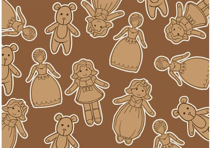 Doll Vector Background