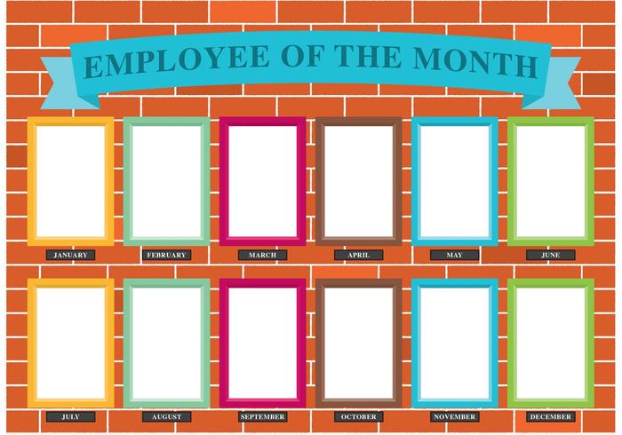 Employee Of The Month Wall Vector Download Free Vector