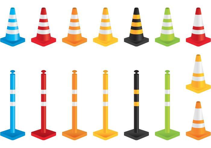 Vecteurs de cône d'orange vecteur