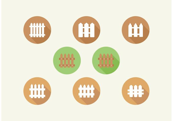 Picket Fence Vector Icons Set