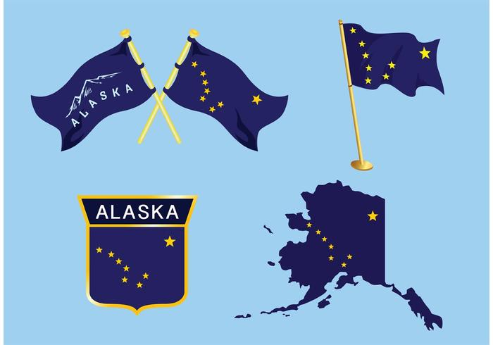 Alaska Flag Vectors
