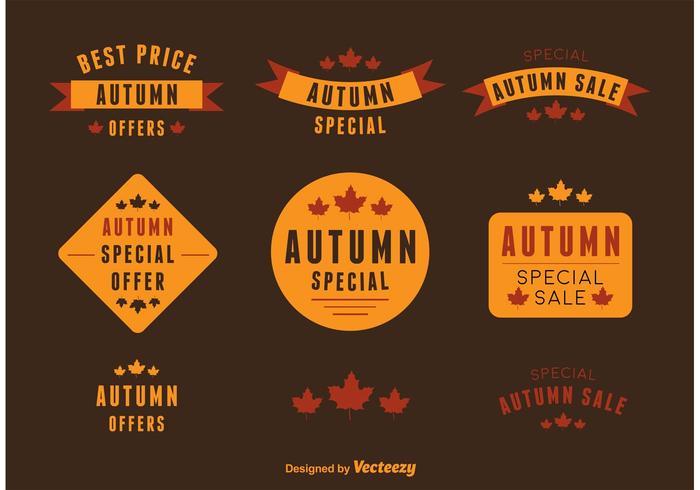 Autumn Deal Vector Labels