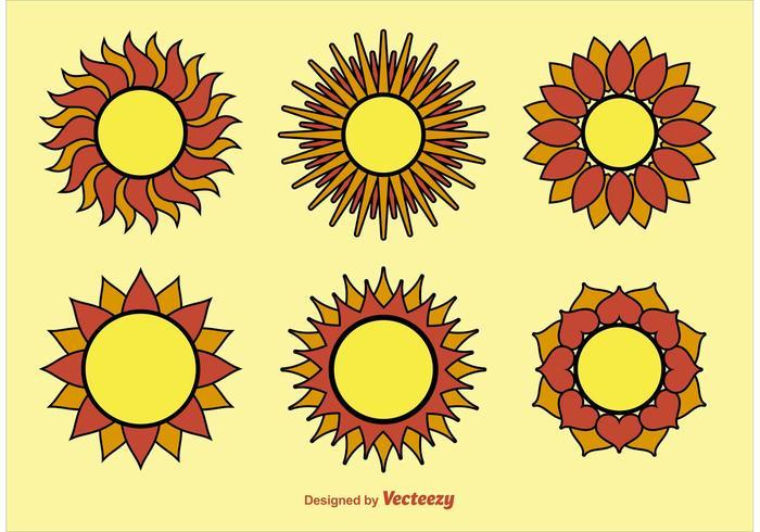 Vectores geométricos del sol
