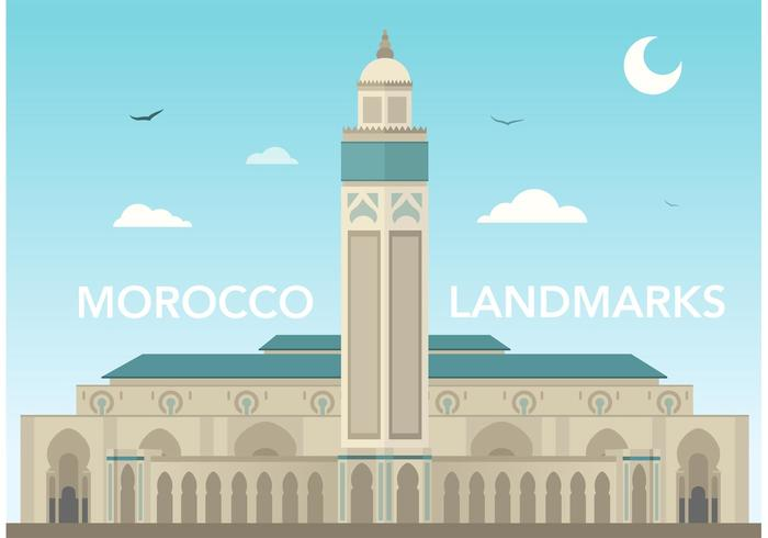 Free Morocco Hassan Mosque Vector