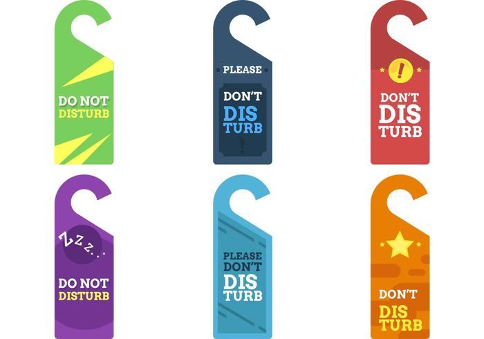 Do Not Disturb Sign Vectors