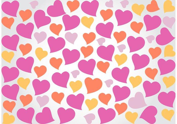 Fun Heart Background Vector