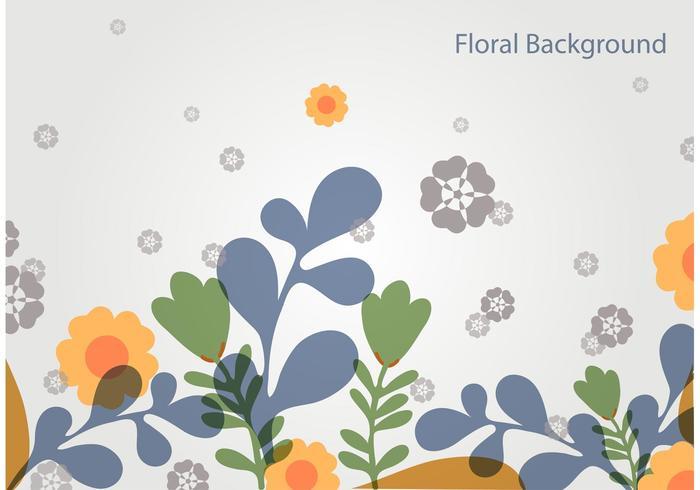 Simple Floral Vector Landscape