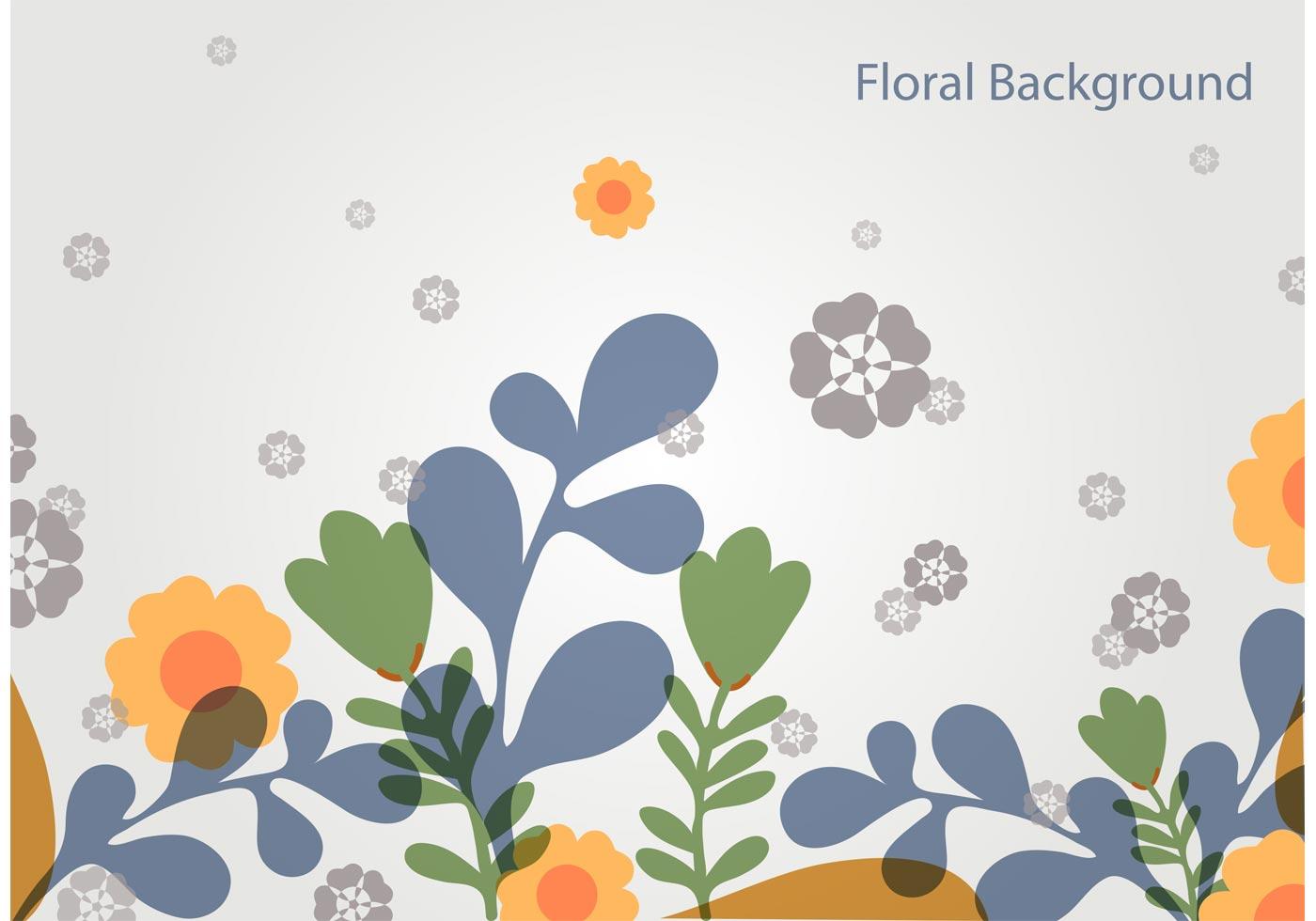 Simple Floral Vector Landscape Download Free Vectors Clipart