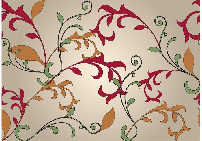 Fondo floral de Swirly