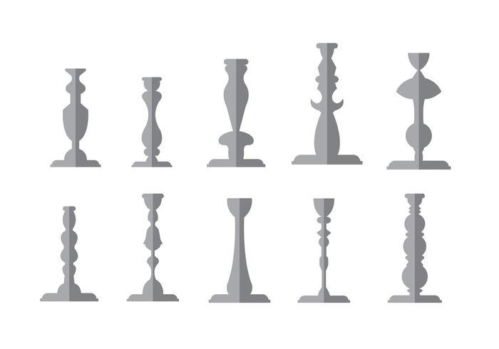 Vintage Candlestick Vectors