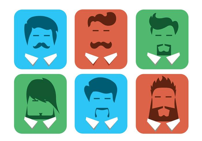 Free Vector Male Avatars with Beards